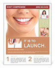 White Teeth Flyer Template