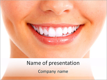 White Teeth Sjablonen PowerPoint presentatie