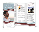 Meditating Man Brochure Templates