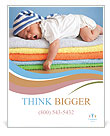 Sweet Sleeping Baby Poster Template