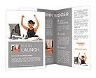 Happy Businesswoman Brochure Template