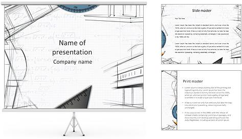Architecht Drawing Modelos de apresentações PowerPoint