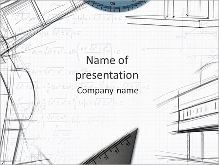 Architecht Drawing PowerPoint Template