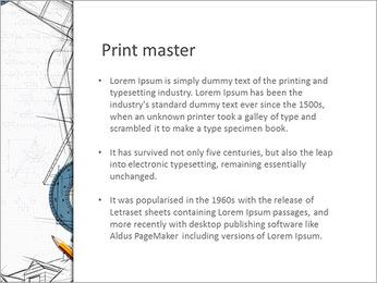 Dessin de architecht Modèles des présentations  PowerPoint