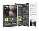 Businessman At Labyrinth Brochure Template