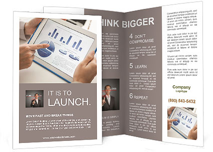 make financial analysis brochure template