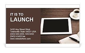 Modern IPad Business Card Template
