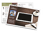 Modern IPad Postcard Templates