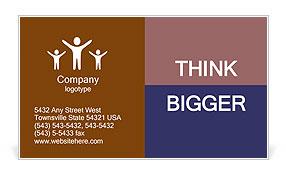 Orange Diagram Business Card Template