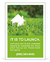 White House In Grass Ad Templates