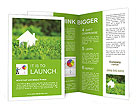 White House In Grass Brochure Templates