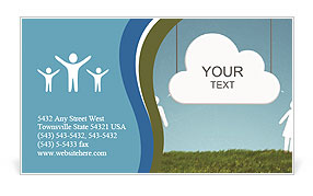 Cloud people Business Card Templates