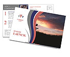 Man sits at sunset Postcard Template
