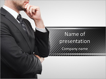 Portrait the beautiful businessman PowerPoint Template