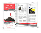 Draw the road Brochure Templates