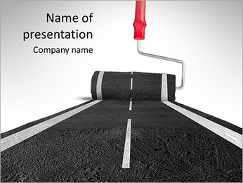Draw the road PowerPoint Template
