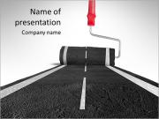 Draw the road PowerPoint Templates
