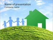Family and house PowerPoint Templates