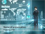 Business man of the future PowerPoint Templates