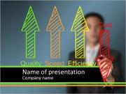 Business man writing industrial product and service PowerPoint Templates