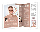 Health concept image - Beautiful young woman with puzzle Brochure Template