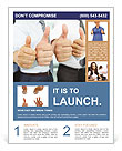 Close-up of business team holding their thumbs up Flyer Template