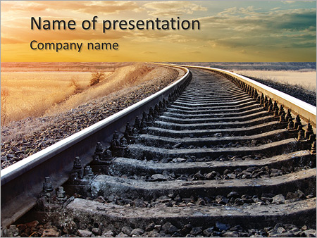 Railway powerpoint template smiletemplates railway to horizon powerpoint templates toneelgroepblik Choice Image