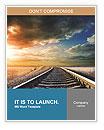 Railway to horizon Word Templates