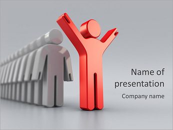3d small person the leader PowerPoint Template