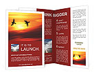 Birds at sunset Brochure Templates