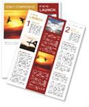 Birds at sunset Newsletter Template