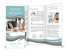 Three pairs of hands sketching a housing project Brochure Template