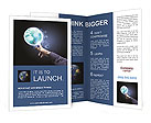Hand of businessman holding earth planet Brochure Templates