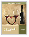 Two Glasses of Red Wine Word Templates