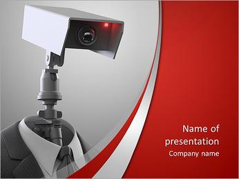 Camera head PowerPoint Template