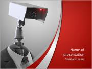 Camera head PowerPoint Templates