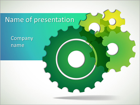 gears powerpoint template & backgrounds id 0000008043, Modern powerpoint