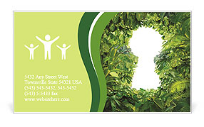 Keyhole nature Business Card Template
