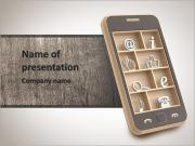 Smartphone button PowerPoint Templates