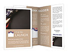 Vintage American flag on a chalkboard with space for text Brochure Templates