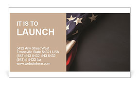 Vintage American flag on a chalkboard with space for text Business Card Template