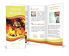 Firefighter in the fire Brochure Templates