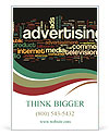 Advertising word Ad Templates