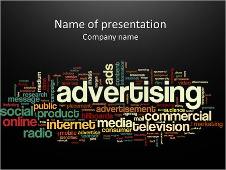 Advertising Word Powerpoint Template Backgrounds Google Slides