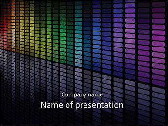 Graphic equalizer PowerPoint Template