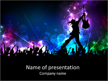 Rock star performing with guitar powerpoint template backgrounds rock star performing with guitar powerpoint template toneelgroepblik Gallery