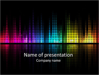 Graphic equalizer background PowerPoint Template