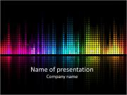Graphic equalizer background PowerPoint Templates