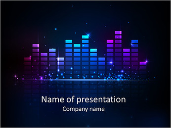 Rainbow colored equalizer design PowerPoint Template
