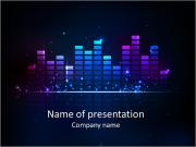 Rainbow colored equalizer design PowerPoint Templates